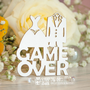"Чипборд надпись ""Game Over"" Hy-047"