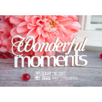 "Чипборд надпись ""Wonderful moments"" Hi-235"