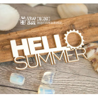 "Чіпборд напис ""Hello summer"" Hi-285"