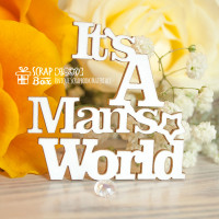 "Чипборд надпись ""It's a Man's World"" Hi-330"
